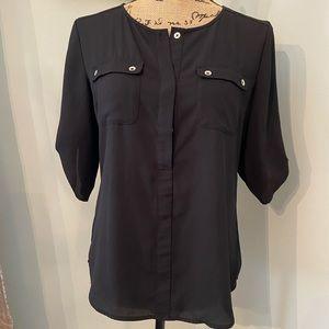 NY&Co Black Size XS Blouse